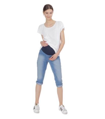 spodnie ciazowe rybaczki jeansowe oxana bensini