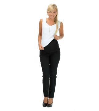 Czarne spodnie ciążowe z panelem Lilia Bensini