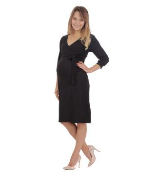 Czarna sukienka ciążowa Blanka Bensini