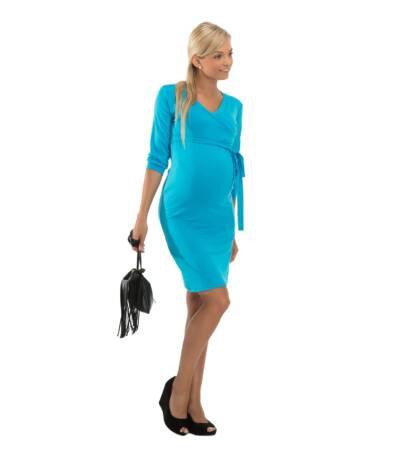 Niebieska sukienka ciążowa Blanka Bensini