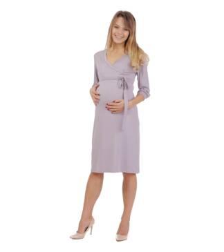 Szara sukienka ciążowa Blanka Bensini