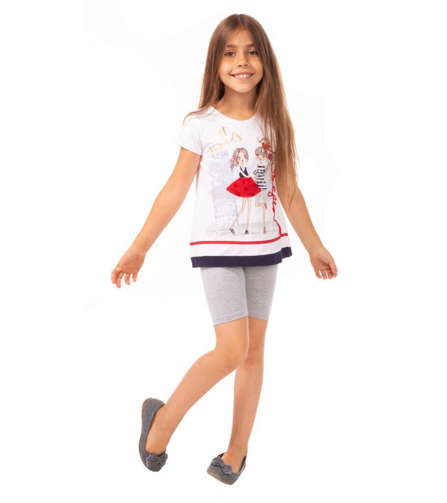 Szare legginsy dziewczęce, kolarki Bensini