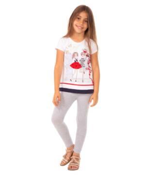 Szare legginsy dziewczęce Bensini
