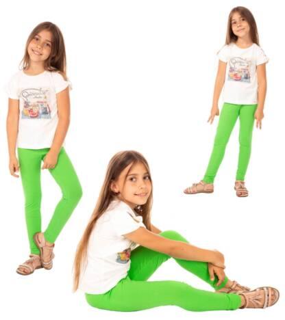 Zielone legginsy dziecięce Bensini