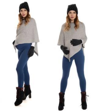 Ciepłe legginsy ciążowe, jeansowe Bensini