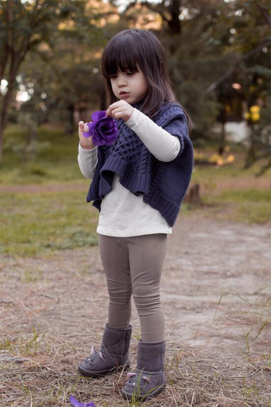 Ocieplane legginsy dziecięce – beżowe