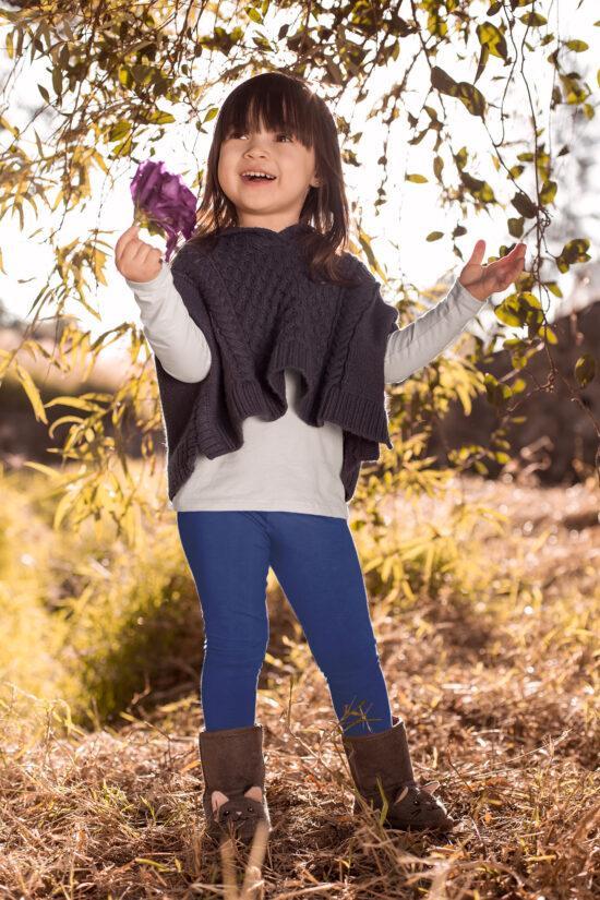 Ocieplane legginsy dziecięce – jeansowe
