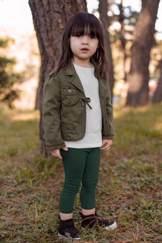 Ocieplane legginsy dziecięce – zielone
