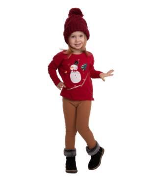 Ocieplane legginsy dziecięce karmelowe Bensini®