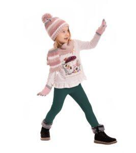 Ocieplane legginsy dziecięce zielone Bensini®