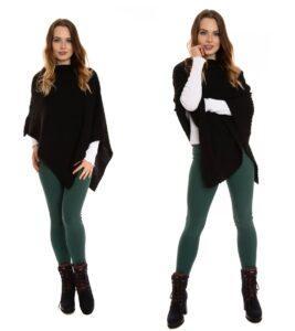 Ciepłe legginsy damskie, zielone Bensini