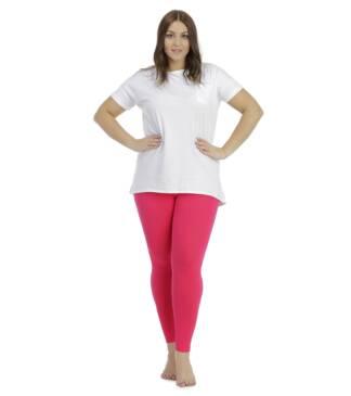 Amarantowe legginsy damskie plus size Bensini