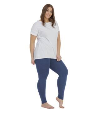 legginsy damskie jeansowe plus size bensini 1