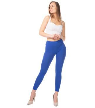Chabrowe legginsy damskie z wysoką talią Bensini