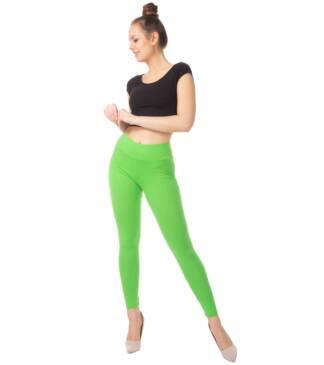 Zielone legginsy z wysoką talią Bensini