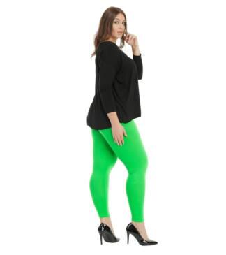 Zielone legginsy damskie plus size Bensini