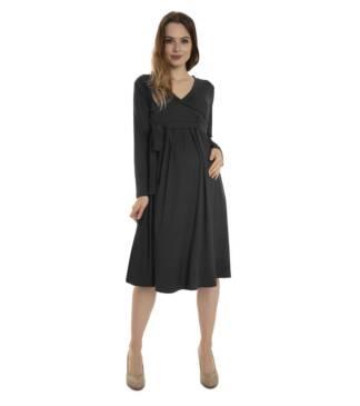 Czarna sukienka ciążowa Blanka Bensini®