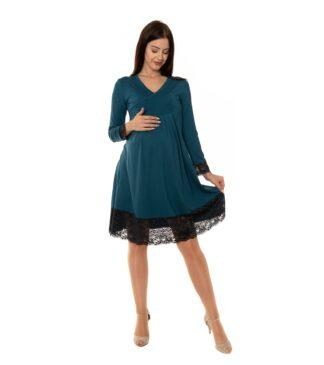 Niebieska sukienka ciążowa i do karmienia Tilla Bensini