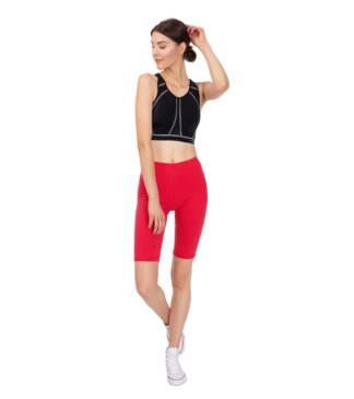 Krótkie legginsy damskie, czerwone - kolarki