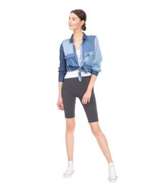 Krótkie legginsy damskie, grafitowe - kolarki