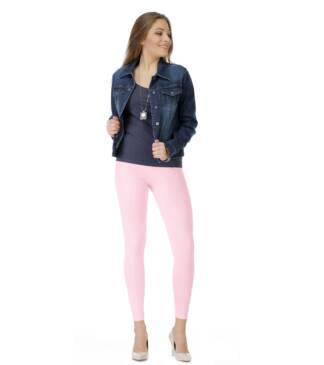 Różowe legginsy długie w gumkę Bensini