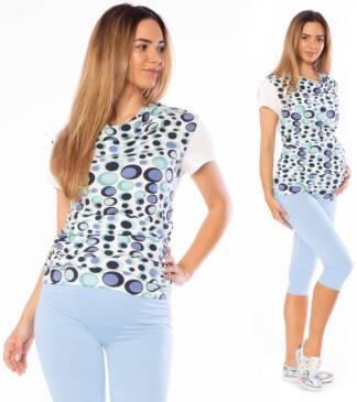 bensini legginsy ciążowe rybaczki baby blue