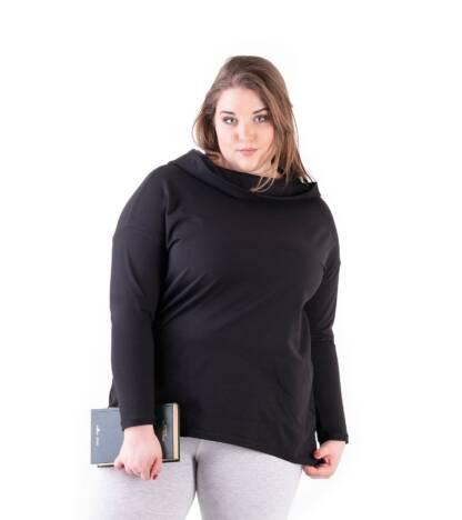 Bensini Bluza damska Plus Size Dave Over Size czarna