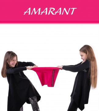 Krótkie legginsy dziewczęce z lampasem NIKE amarantowe