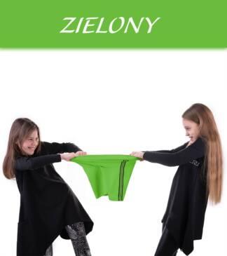 Krótkie legginsy dziewczęce z lampasem NIKE zielone