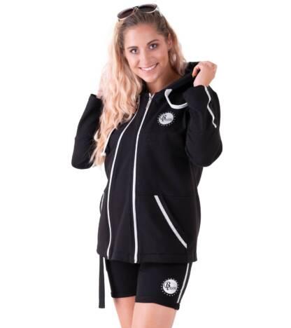 Czarna sportowa bluza damska ciążowa Galla Bensini