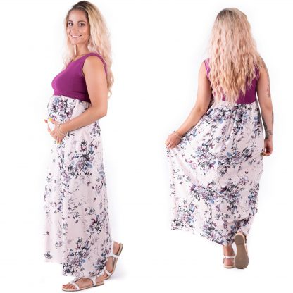 Sukienka ciążowa Violetta Cyklamen Bensini