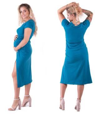 Bensini Sukienka ciążowa Gaya w kolorze petrol