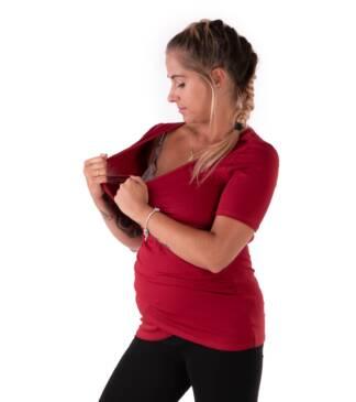 Bordowa bluzka ciążowa i do karmienia Bensini
