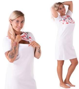 Koszula nocna do karmienia Ellen w serduszka