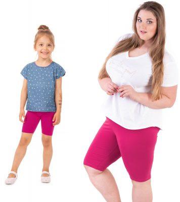 Krótkie legginsy z wysokim stanem dla mamy i córki
