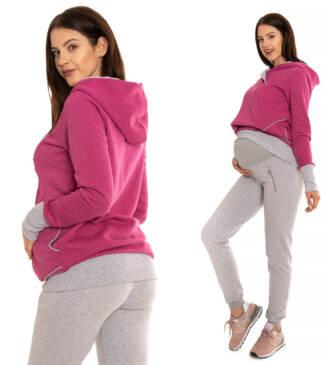 Spodnie ciążowe Greta szary melanż