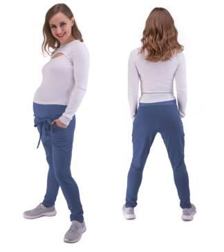 Spodnie dresowe ciążowe Mila w kolorze indygo Bensini