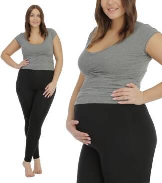 Legginsy ciążowe czarne plus size